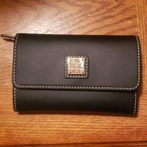 Dooney & Bourke Wallet | Black w/ Tan Stitching